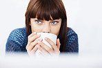 Thinking over a hot cup